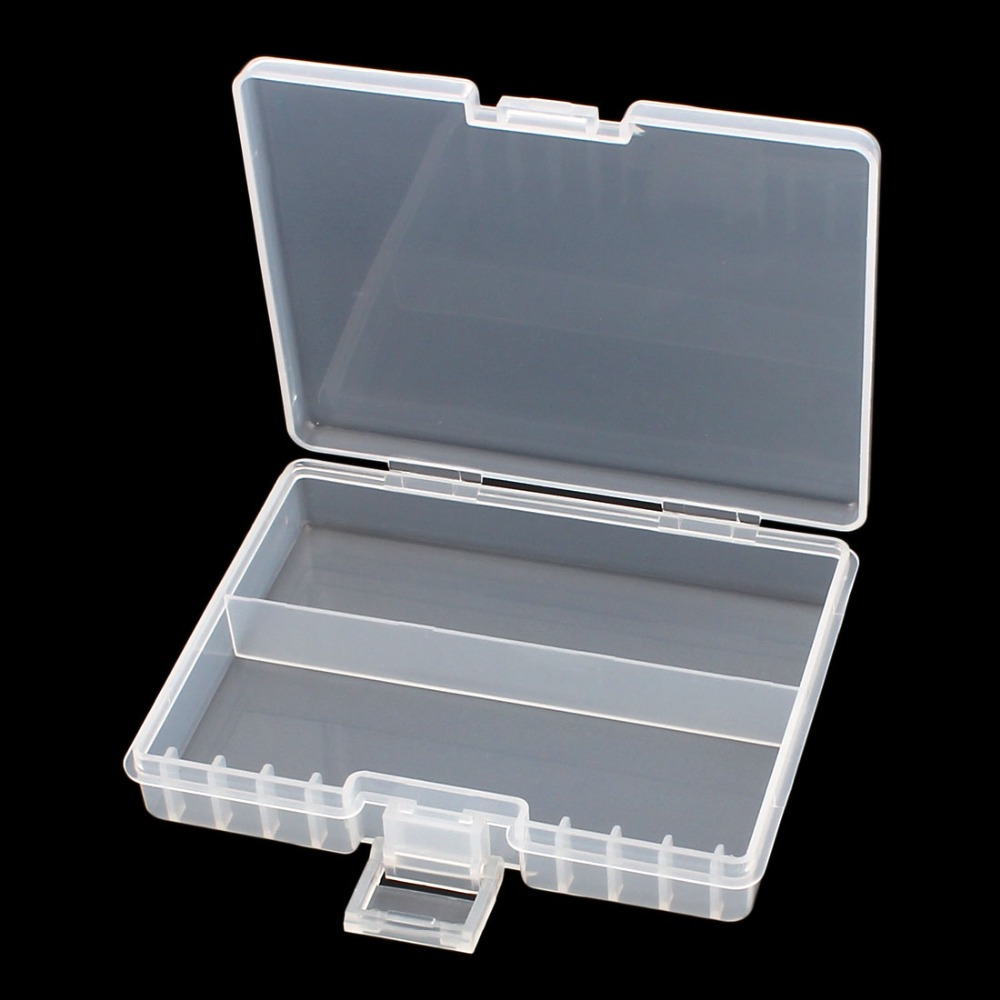 Uxcel White Hard Plastic 130x100x25mm Case Holder Storage Box Container For 48 X AAA Battery Tools Storage Case High Quality