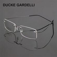 deab1fe51c DUCKE GARDELLI gafas sin montura mujeres hombres anteojos memoria aleación gafas  marco óptico marco oculos Flexible prescripción.