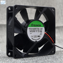 DHL Free Original KD2408PTB1-6A DC 24V 3.4W 8025 80*80*25mm 4900RPM 2 Wires Computer Blower Double Ball Cooling Fan