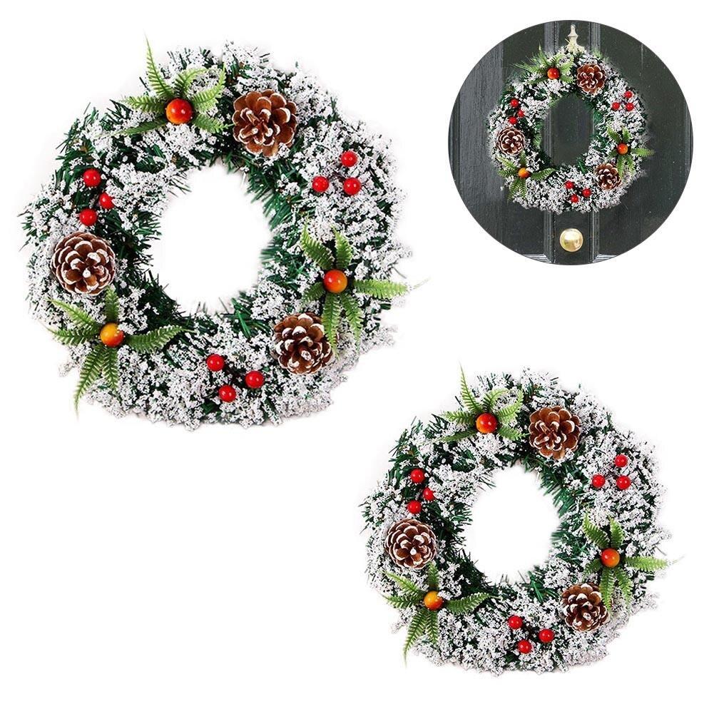 2018 New Handmade Christmas Wreath Wood Christmas Decor For Home Santa Snowman Grand Tree Christmas Gift Xmas Ornament Pendant