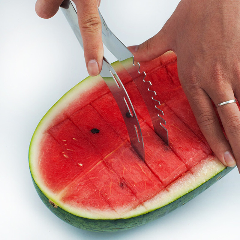 2Pcs-set-Stainless-Steel-Watermelon-Slicer-with-Double-End-Melon-Baller (2)