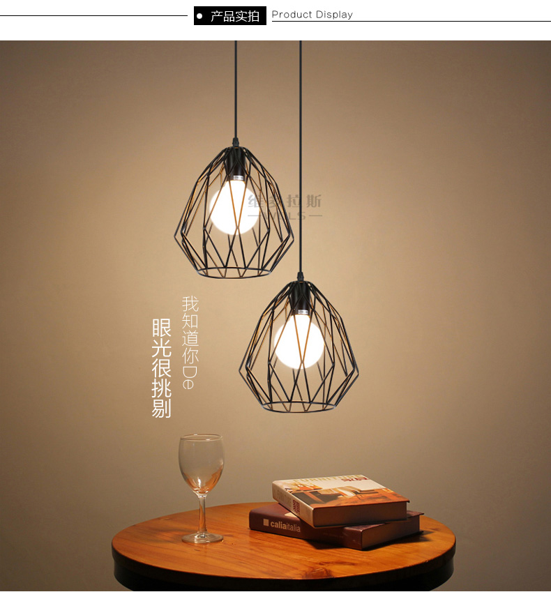 contemporary mini pendant lighting kitchen vintage industrial modern mini barn metal cage pendant 8323