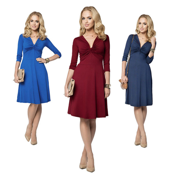 2016 Fashion Formal Pregnant Dress 6 Colors Maternity Dress Comfortable Cotton Pregnancy Evening Dress Pregnancy v neck Clothes