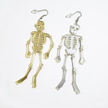 2019 Hot Punk Skeleton Skull Drop Earrings Biker Jewelry Unique Cool for Women Funny Gift Halloween