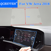 QCBXYYXH Car Styling GPS Navigation Screen Glass Protective Film For VW Jetta 2018 2019 Control Of
