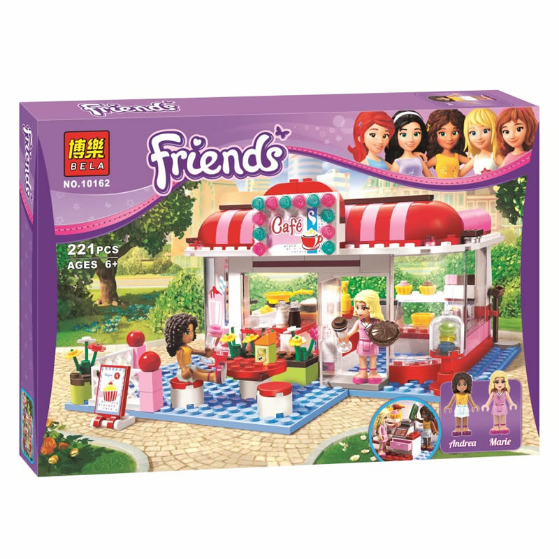 Friends City Park Cafe building Blocks Bricks Toys Girl Game Toys for children House Gift Compatible With lepin gift bela 10162 arpa compatible friends building blocks girl minifigure riding motorcycle with kitten city architecture fountain children toys