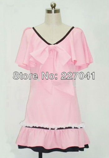 Macross Frontier Ranka Gothic Lolita Pink Halloween Cosplay Costume Free Shipping A0139