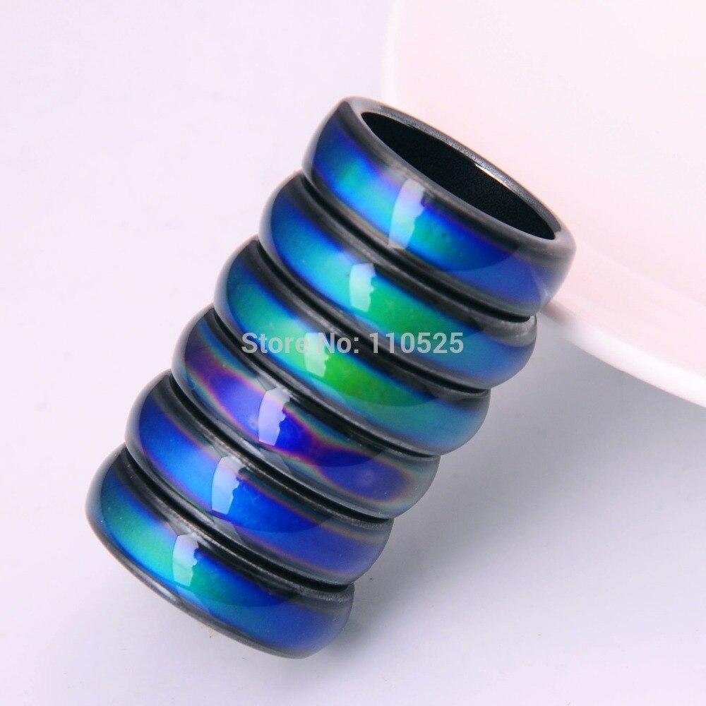 Offres spéciales De Mode Magnétique Hématite bagues pour femmes & Hommes 60 PCS/lOT Magnétique Guérison Humeur Tracker Anneaux Exclusif Personnalisation