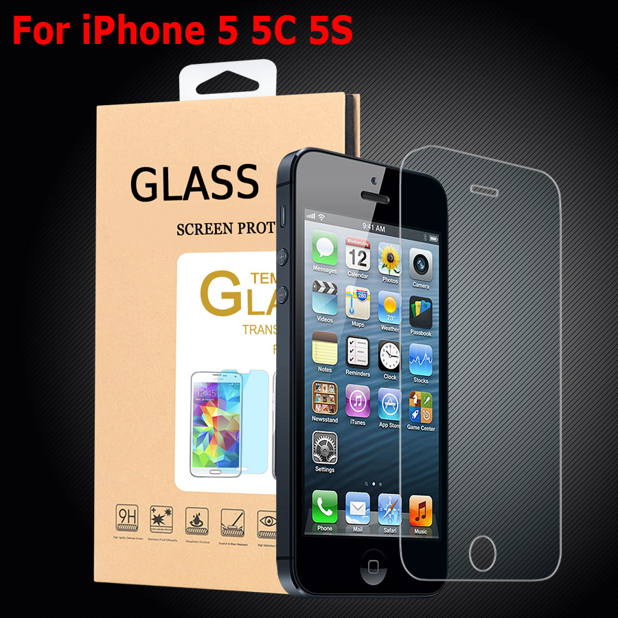 iphone 5c tempered glass for iphone5 iphone 5 5c 5s screen protector high quality 14707