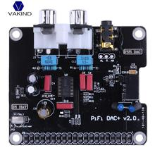 Cheap price VAKIND PCM5122 HIFI DAC Audio Sound Card Module Digital Audio I2S With LED Indicator For Raspberry Pi 2 Model B
