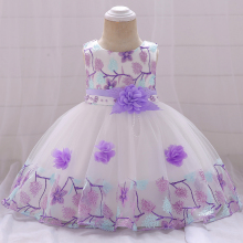 New Arrival Silk Mesh Princess Dress Embroidered Lace Cute Girl