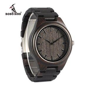 Image 3 - BOBO BIRD WH05 ออกแบบแบรนด์คลาสสิกไม้ Ebony นาฬิกาไม้นาฬิกาควอตซ์น้ำหนักเบาสำหรับผู้ชายกล่องกล่อง