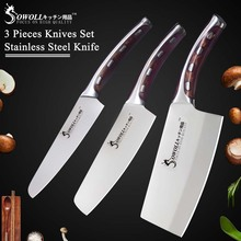 Sowoll Brand 4CR14 Stainless Steel Knife High Quality Kitche