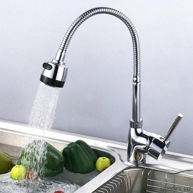 360 Degrees Rotation Sink Faucet Pipe Stainless Steel Kitchen Spout Water Saving Outlet Flexible Tube Single Handle Connecti