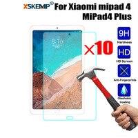 10 stücke Großhandel Premium Gehärtetem Glas Tablet Screen Protector Anti-explosion Für Xiaomi mipad 4 MiPad4 Plus Anti- scratch Film