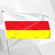 Rosja flaga osetii północnej 150X90cm (3x5FT) 120g 100D poliester podwójne szyte wysokiej jakości darmowa wysyłka