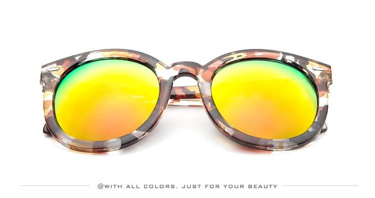 HTB1.w2ySXXXXXc3aXXXq6xXFXXXM - Marbling Sunglasses Women Round Frame PTC 268