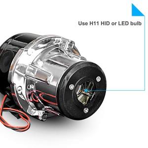 Image 5 - 2.5 Inch Bi Xenon Projector Lens Auto Mistlamp Waterdichte 12V 24V Koplamp Lamp H11 Leds Xenon bollen Voor Auto Off Road Xenon