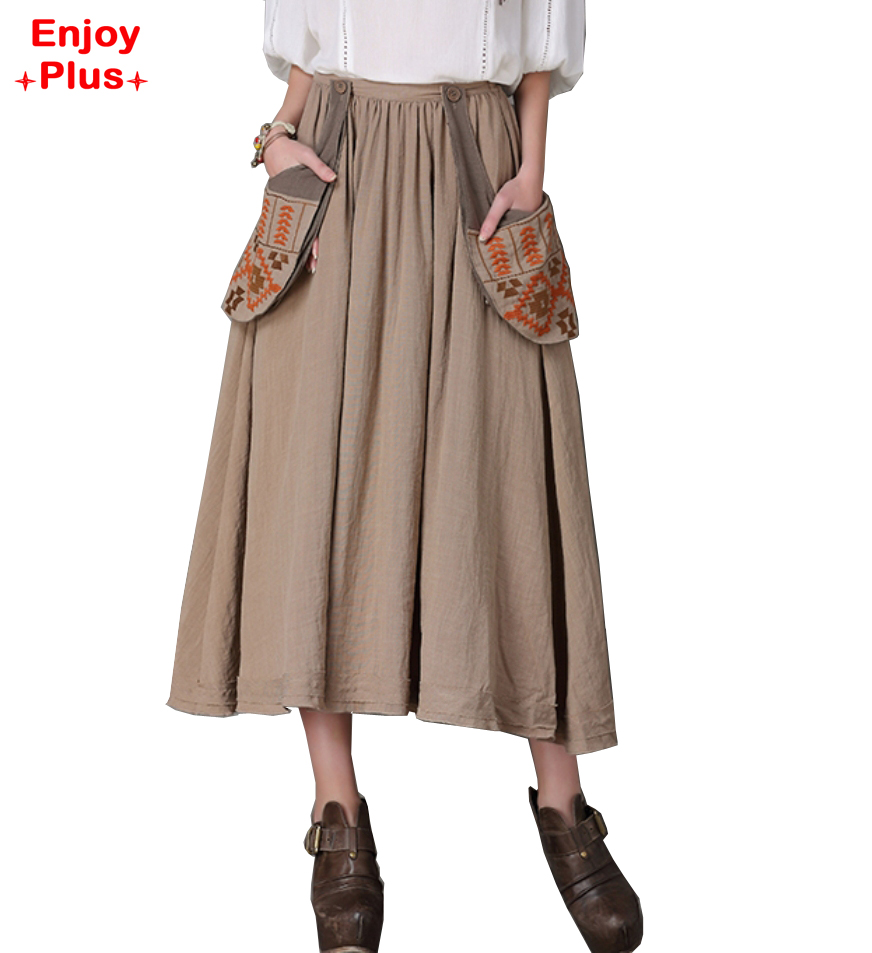 Womens Cotton Skirts Promotion-Shop for Promotional Womens Cotton ...
