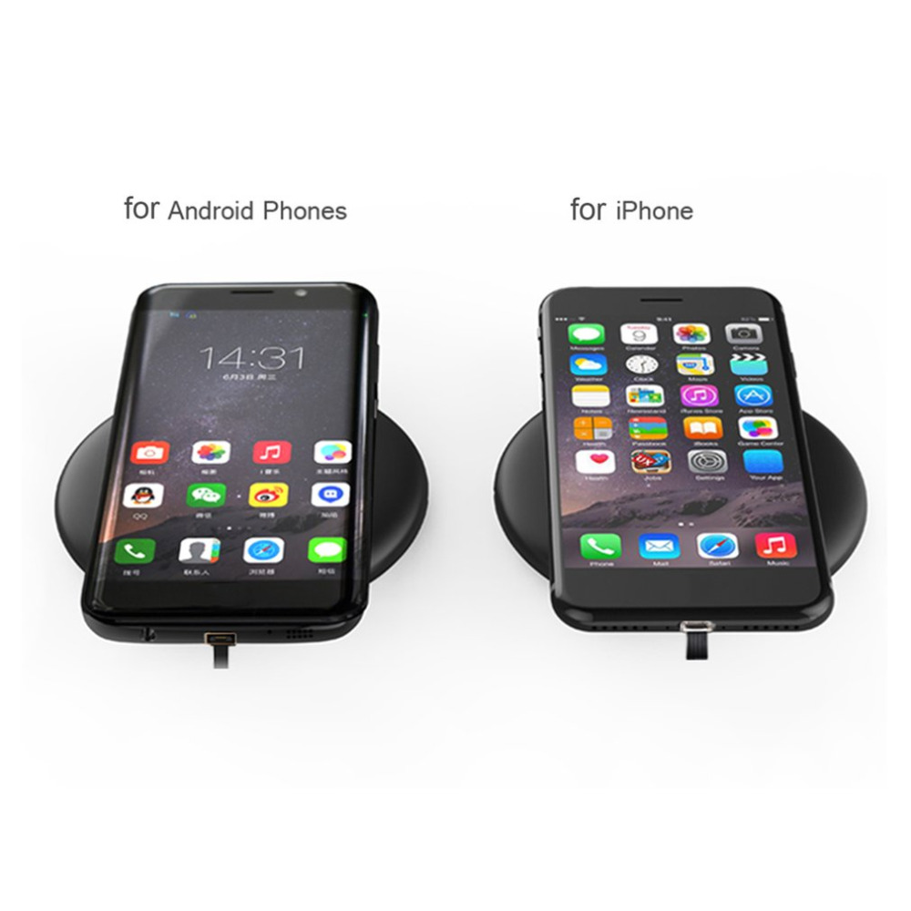 Portable 10W Wireless Charger Mobile Phones Home Office Fast ...