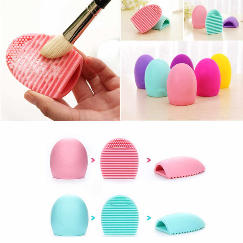 Silicone Makeup Brushes Cleaning Pad Mat Brush Washing Tools Cosmetic Eyebrow Brush Cleaner Tool Scrubber Board Makeup Cleaning
