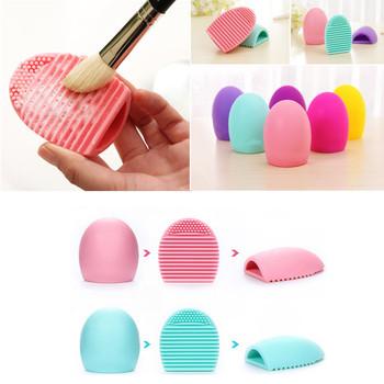 Silikonowe pędzle do makijażu podkładka do czyszczenia Mat Brush narzędzia do mycia kosmetyczne pędzel do brwi narzędzie do czyszczenia płyta do szorowania makijaż czyszczenie tanie i dobre opinie Makeup Silicone Brush 7 5*5 5*2 5cm Z tworzywa sztucznego Pędzel do makijażu 1 Pcs