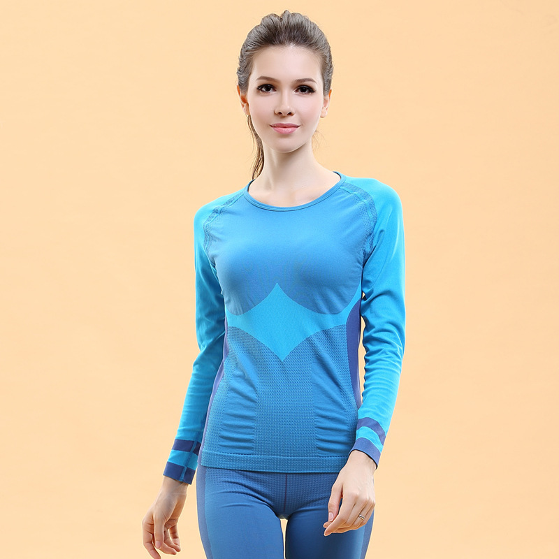 Women yoga t shirt compression tights sport fitness t Yoga shirts with sleeves