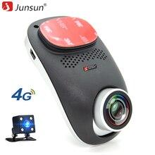 Junsun 4 г Автомобильный видеорегистратор регистраторы Камера Поддержка Android GPS ADAS/LDWS Remote Monitor двойные линзы ночного видения 1080 P регистратор WI-FI видеорегистраторы