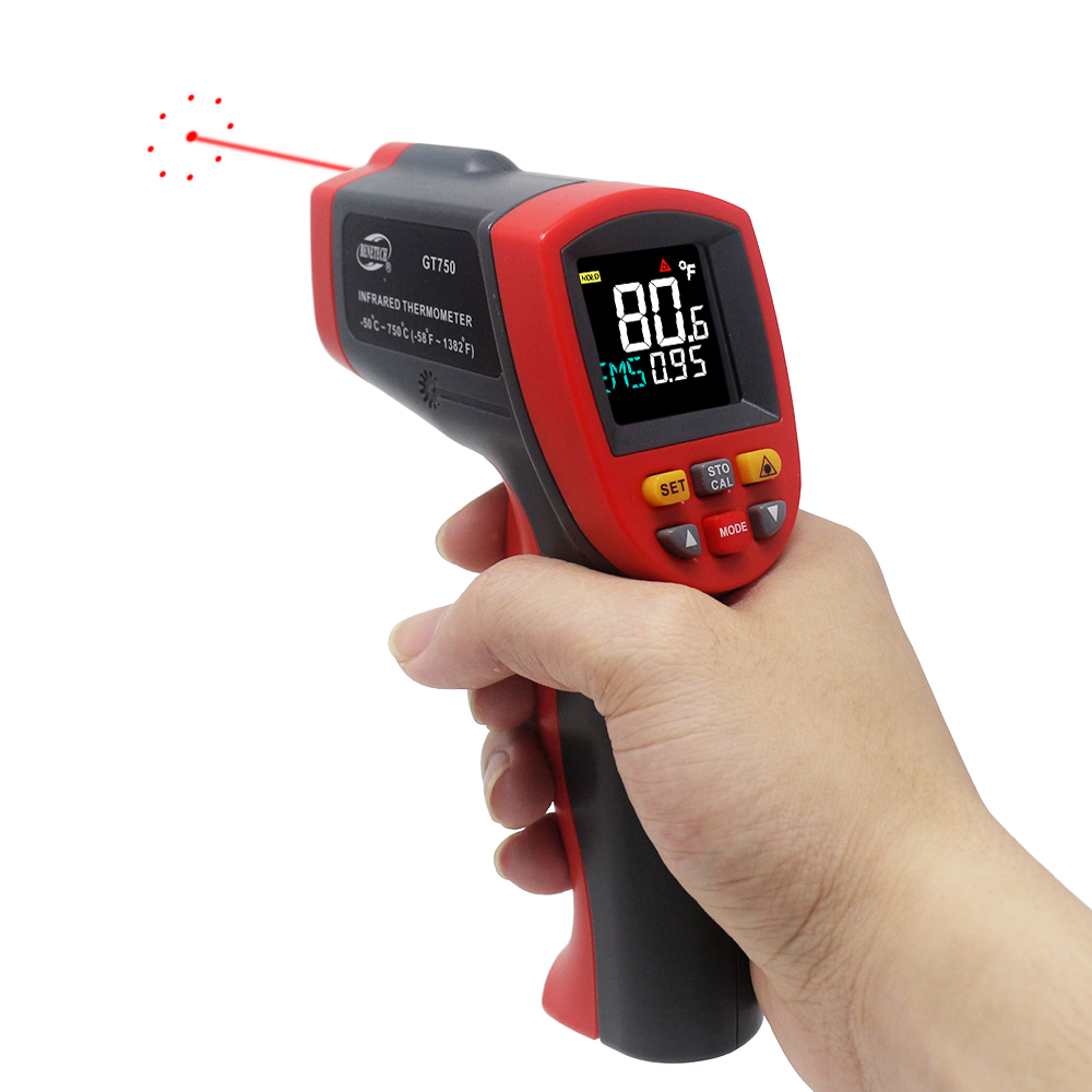 Image 3 - IR Infrared Thermometer Pyrometer 9 Laser Point Digital Non 