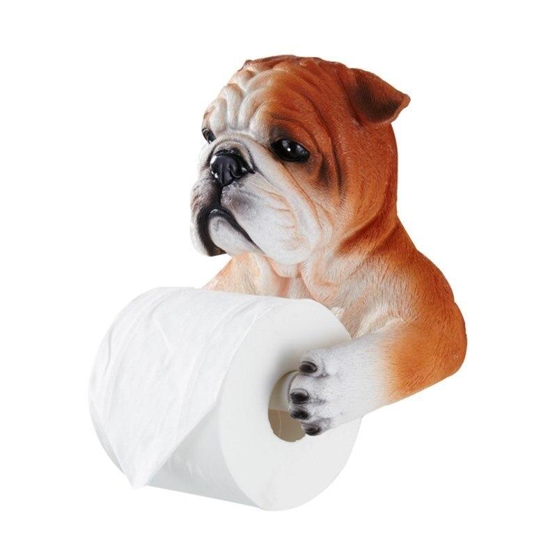 Créatif toilette étagère papier porte-serviettes 3D Simulation chien/ours/chat tissu rangement organisateur salle de bains rouleau titulaire accessoire R420