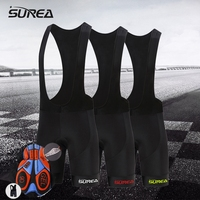 Surea Cycling High Quality Bib Shorts Classic Race Bicycle Bottom Ropa Ciclismo Bike Pants 9D Gel
