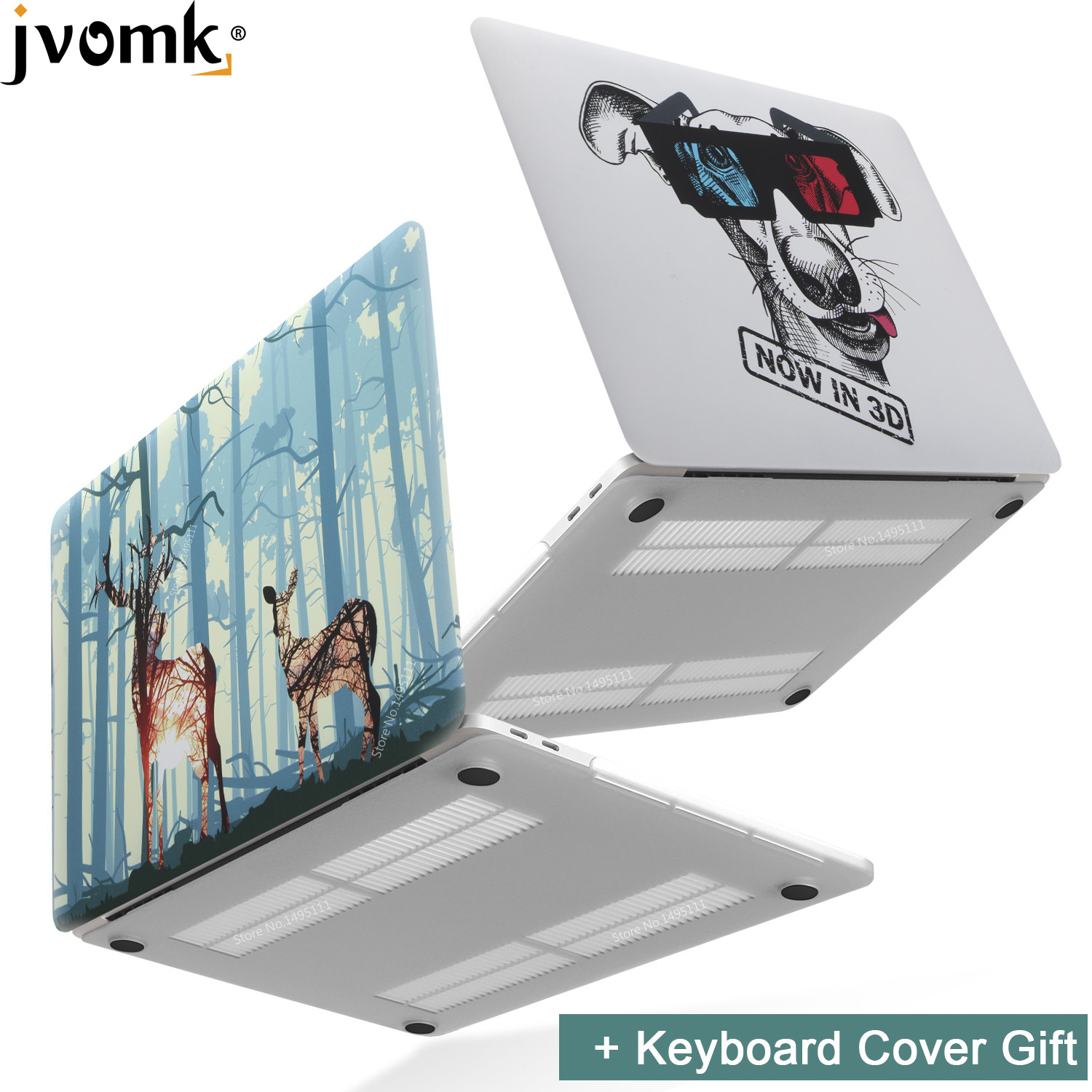 2019 New Print Animal Laptop Case For MacBook Air Pro Retina 11 12 13 15 Inch With Touch Bar + Keyboard Cover