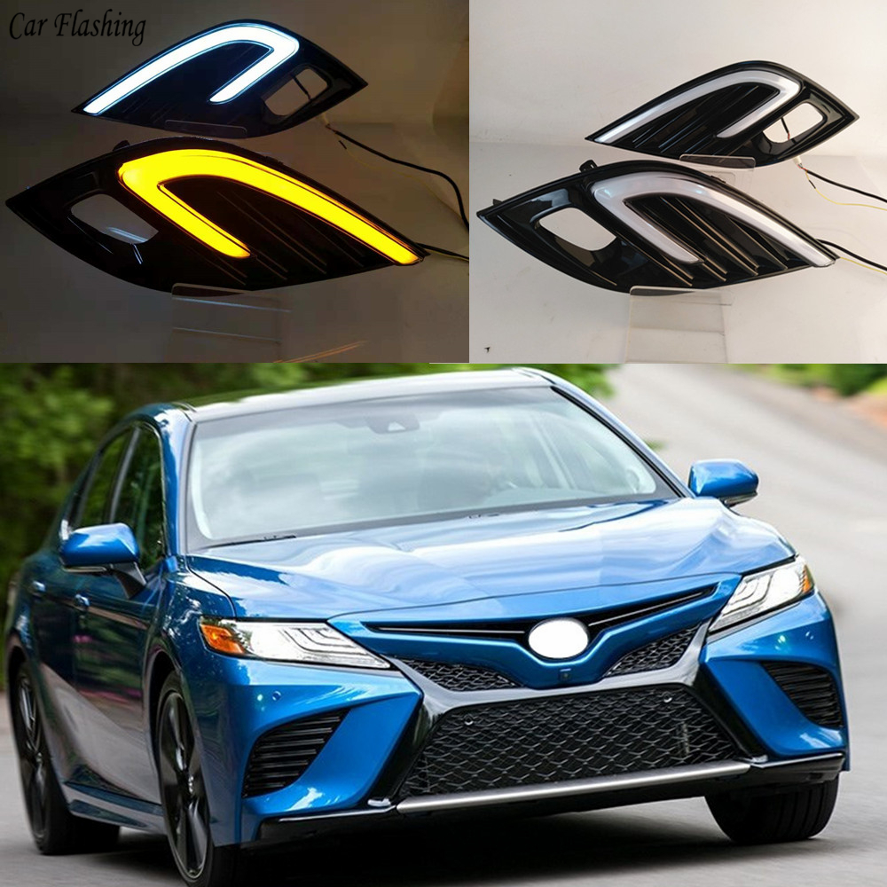 2pcs For Toyota Camry 2018 2019 XSE SE DRL LED Fog Lamp