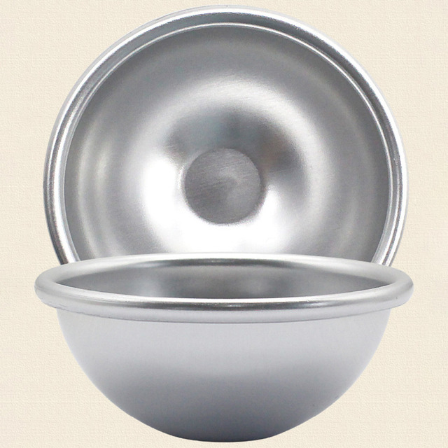 Mini Aluminum Alloy Shallow Semicircle Bath Bomb Salt Ball Metal Mold 3D Sphere Shape DIY Spa Tool Accessories 1PC 5.5*2.5cm 5