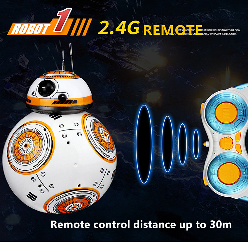 2.4G Remote Control BB-8 Robot Upgrade RC BB8 Robot With Sound And Dancing Action Figure Gift Toys Intelligent BB 8 Ball Toy 2 4g remote control bb 8 robot upgrade rc bb8 robot with sound and dancing action figure gift toys intelligent bb 8 ball toy 01