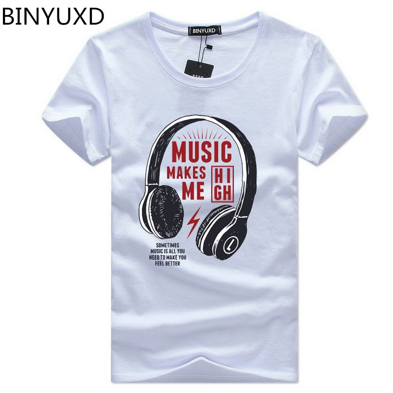 BINYUXD summer t shirt men o-neck cotton comfortable t-shirt Tee Casual Short sleeve