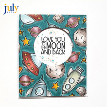 Julyarts New Stamps and Dies for Card Making Paper Craft Spacecraft Stencil Kids Interesting Tool