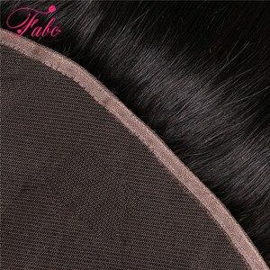 Image 4 - FABC бразильские кружевные фронтальные прямые волосы 13x4 свободная часть от уха до уха 130% плотность Remy волосы Бесплатная доставка 22 дюйма