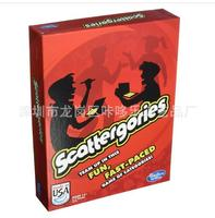 Scattergories adult board game card Scattergory