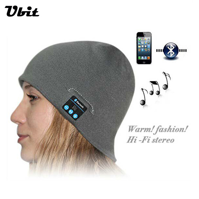 Ubit Smart Wearable Devices Stereo Magic Music Hat Sport Bluetooth Wireless Headset With Answer Call for iPhone SmartPhone wireless bluetooth music beanie cap stereo headset to answer the call of hat speaker mic knitted cap