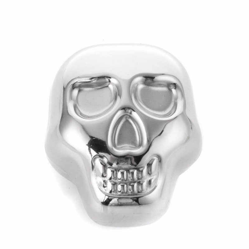 Crânio de Aço inoxidável Uísque Pedra Cubo de Gelo Refrigerador de Vinho Para Refrigeração Bar Fontes Do Partido Casa transporte da gota