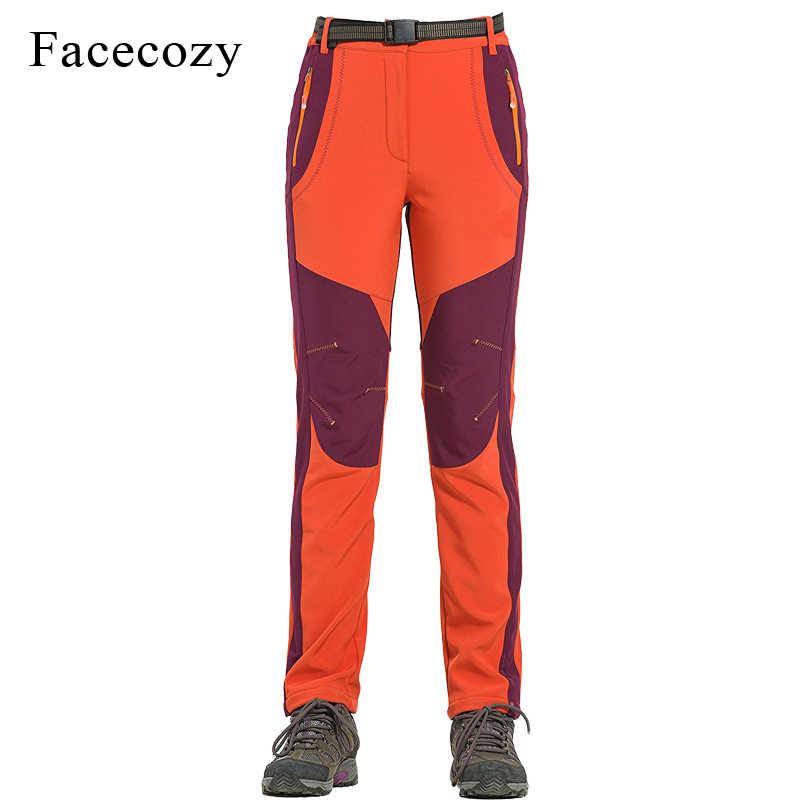 Facecozy 2019 男性女性屋外防水釣りソフトシェルハイキングキャンピングパンツクライミング釣りパンツ