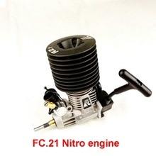 Бесплатная доставка Force.21 Pull Starter (Задний Выхлопной) нитро двигатель для 1/8 масштаб RC Nitro buggy/truggy/грузовик, подходит нитро мощность rc автомобиль