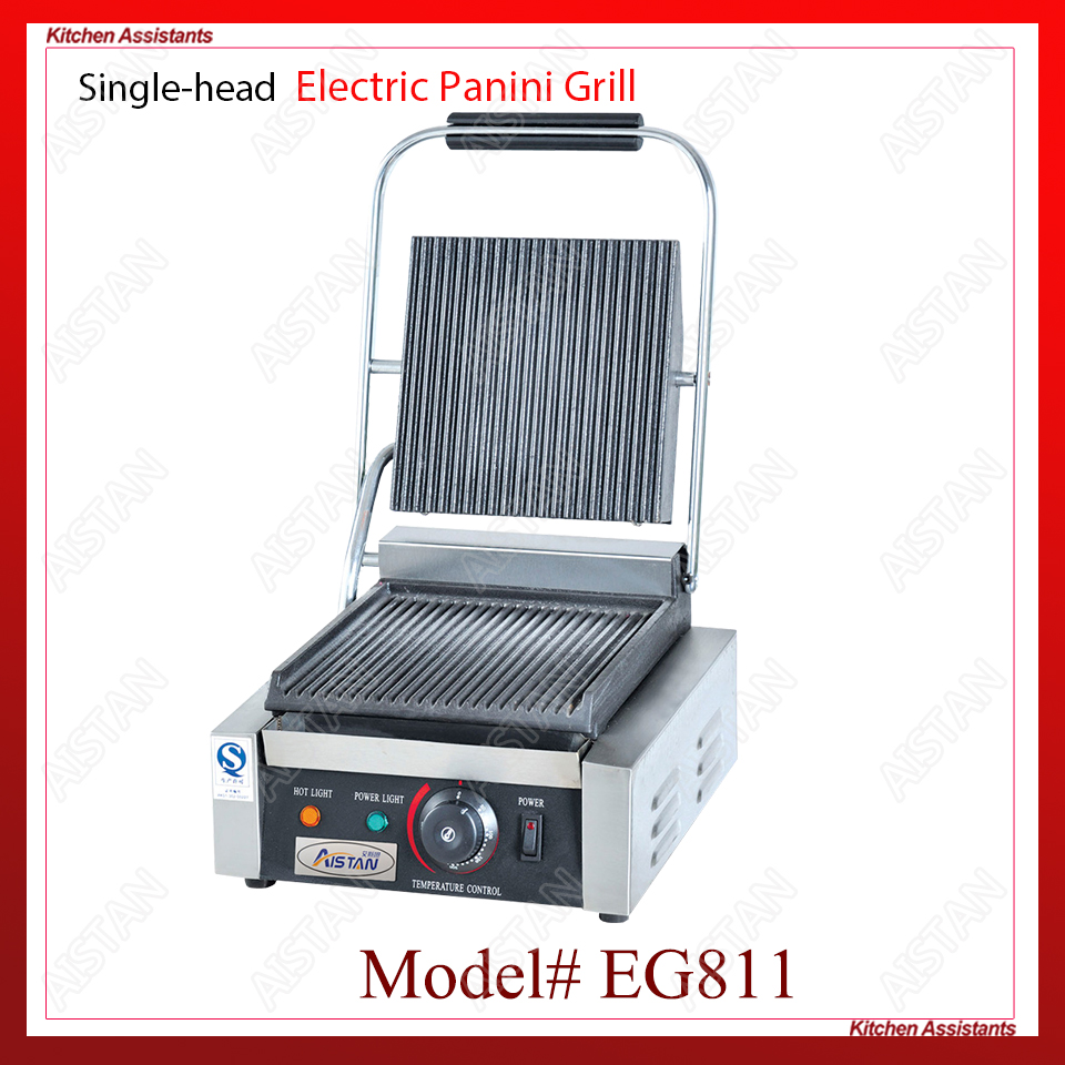 EG811/EG813/EG815 Single/Double Plate Commercial Electric Table Top Panini Grill Machine for kitchen equipment
