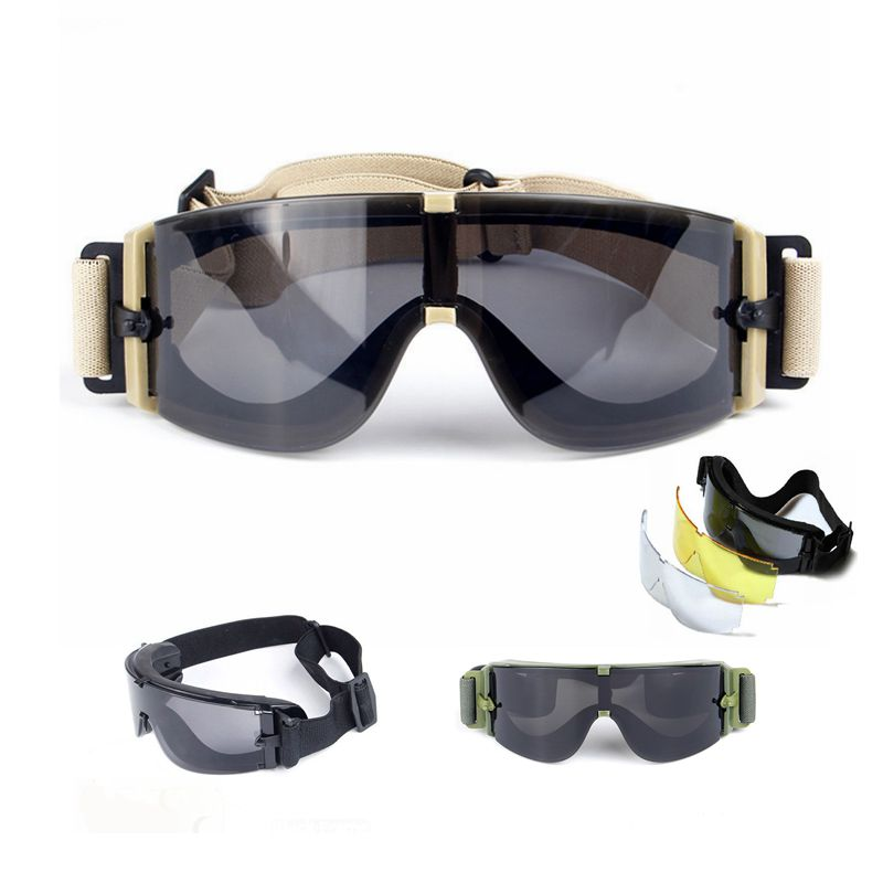 Tactical Glasses Windproof UV Protective Sunglasses Shooting Hunting Camping Goggles Outdoor Airsoft Painball Safety Eyewear
