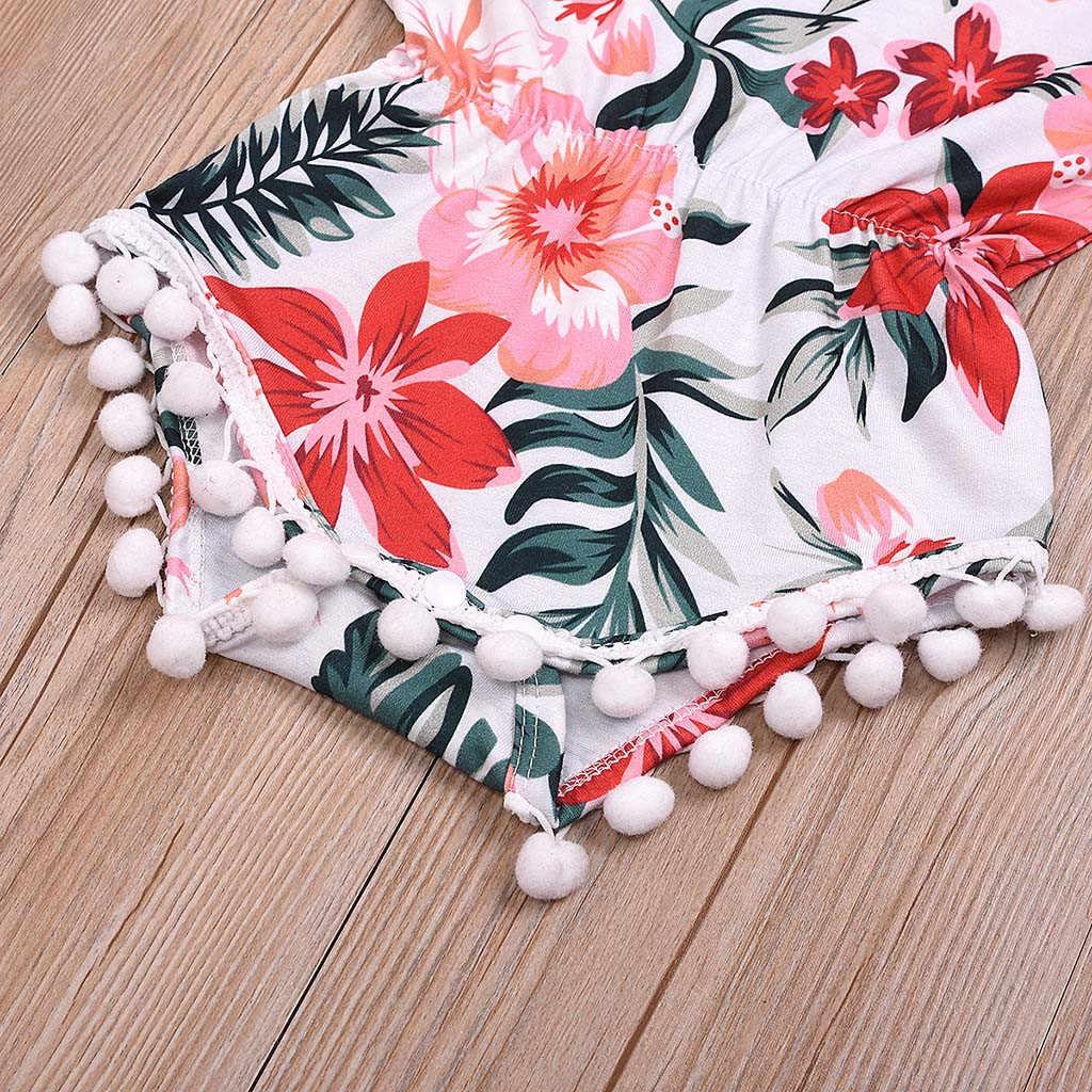 Носки для маленьких мальчиков и девочек комбинезон без рукавов Летний Цветочный принт комбинезон + повязка на голову, ползунки для малыша Одежда для новорожденных, для маленьких девочек, детские комбинезоны