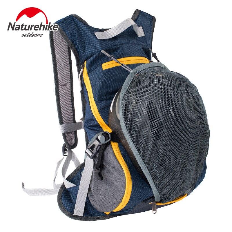 Prix pour Naturehike vélo sac à dos mâle lumière respirant étanche voyage en plein air femmes sac avec chapeau système web 15l 5 couleurs hommes sacs