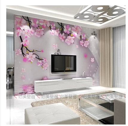 Aliexpress.com : Buy Large Mural Wallpaper The Romantic Flowers Wallpaper  For Living Room Tv Background Wall Paper Wallpaper Modern From Reliable  Paper ... Part 25