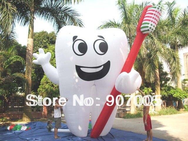 AD05 'Надувная Реклама Зубов Стоматолог Объявление Здоровья Продвижение Бесплатная Воздуходувки CE