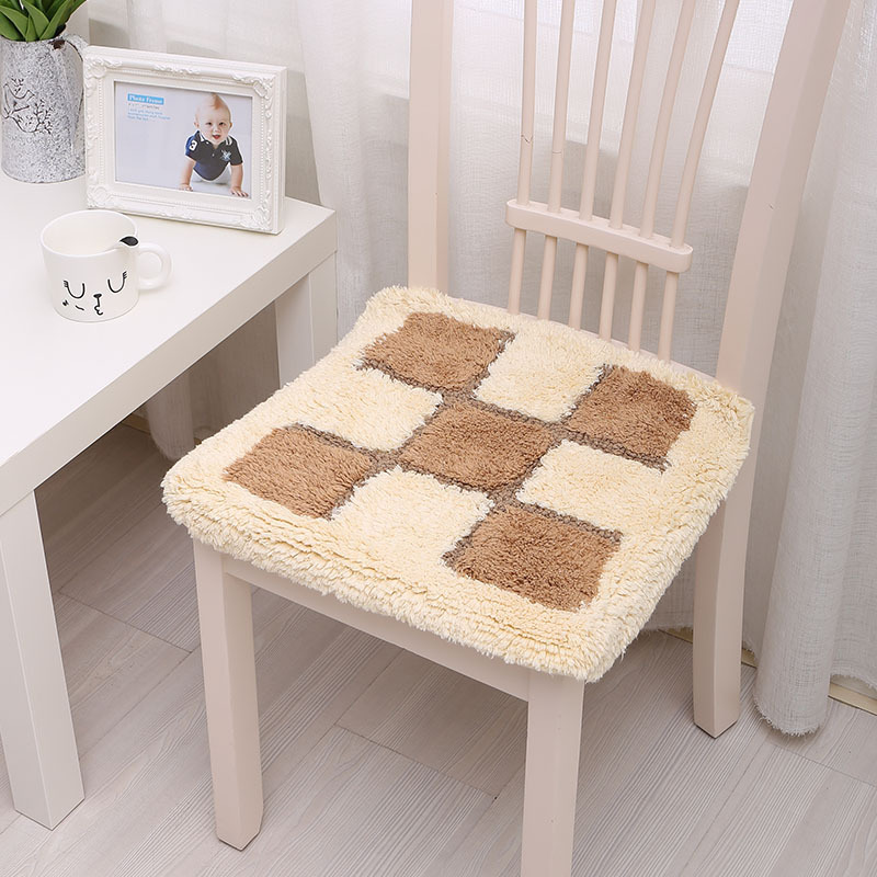 Chair Mat Plush Retro Office Bench Dining Room Seat Cushion Student Computer Colorful Rug Home